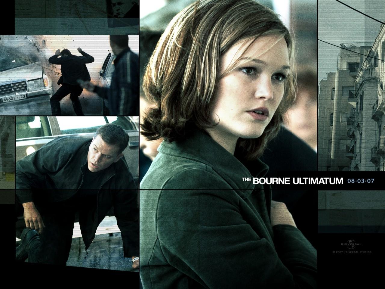 Wallpaper del film The Bourne Ultimatum con Julia Stiles