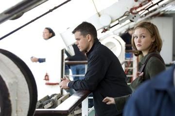 Matt Damon e Julia Stiles in una scena del film The Bourne Ultimatum