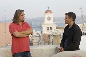 Matt Damon e Paul Greengrass sul set del film The Bourne Ultimatum