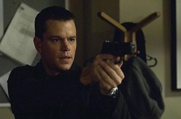 Matt Damon in una scena del film The Bourne Ultimatum, il ritorno dello sciacallo