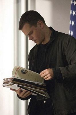 Una immagine di Matt Damon in una scena del film The Bourne Ultimatum