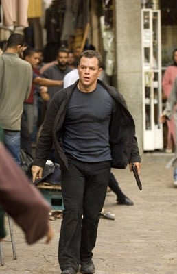 Matt Damon in una scena del film The Bourne Ultimatum