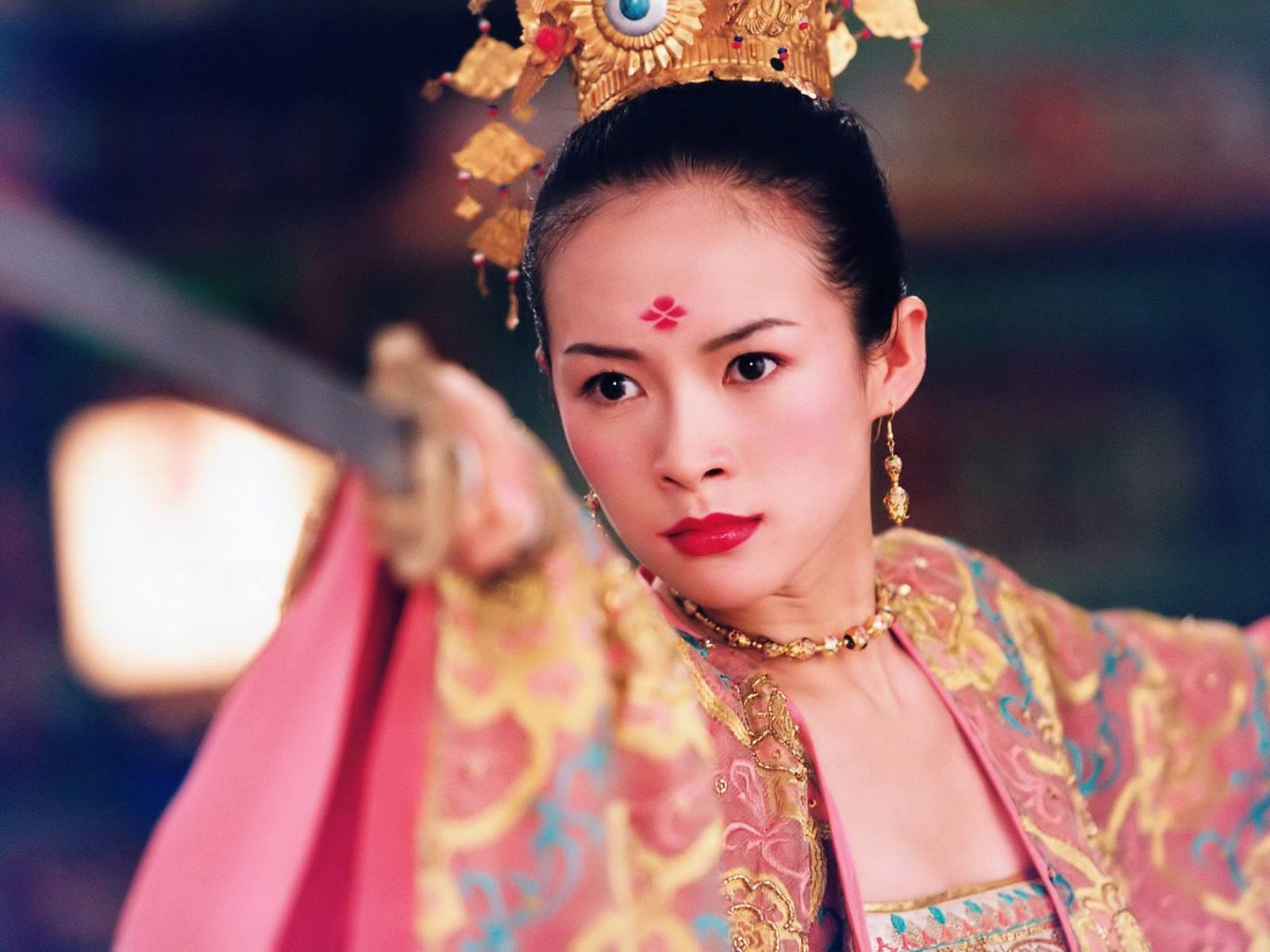 Wallpaper di Zhang Ziyi in un film