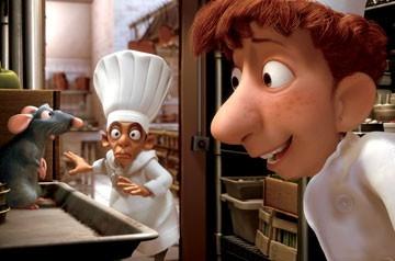 Una scena del film d'animazione Ratatouille