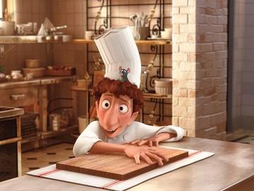 Il giovane chef e il suo aiutante, protagonisti del film Ratatouille