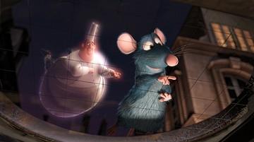 Remy e lo spirito di Auguste Gusteau nel film Ratatouille