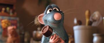 Remy è un topo con straordinarie abilità culinarie nel film Ratatouille
