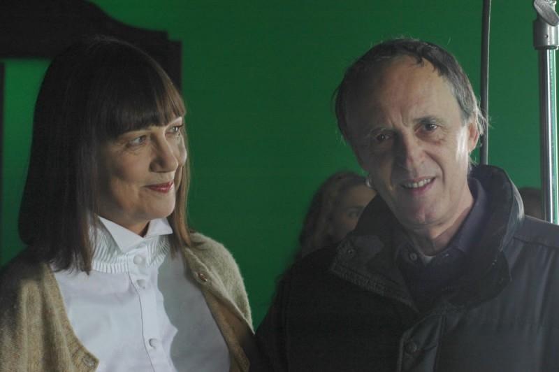 Dario Argento e Daria Nicolodi sul set del film La terza Madre