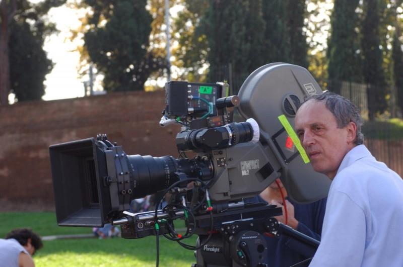 Dario Argento sul set di La terza Madre