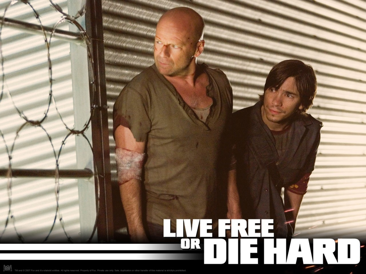 Wallpaper del film Die Hard - Vivere o morire del 2007
