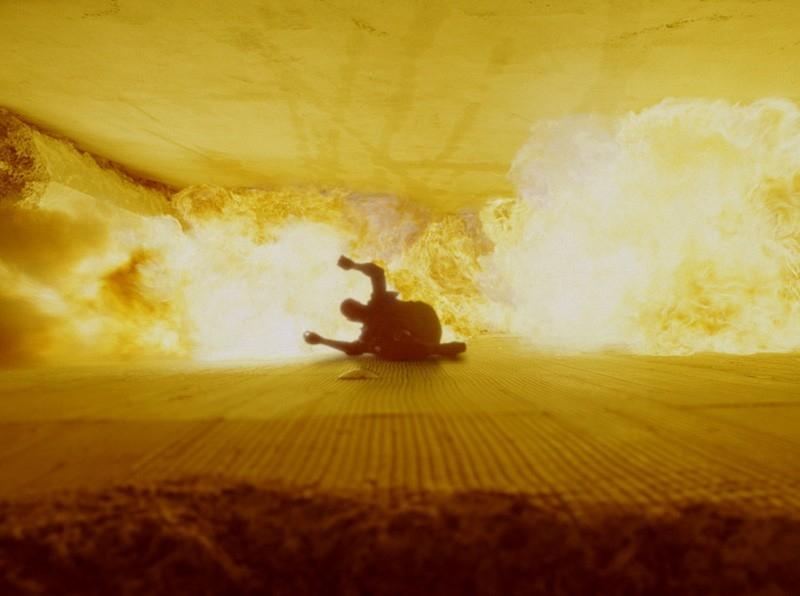 Una scena del film Live Free or Die Hard, del franchise Trappola di cristallo