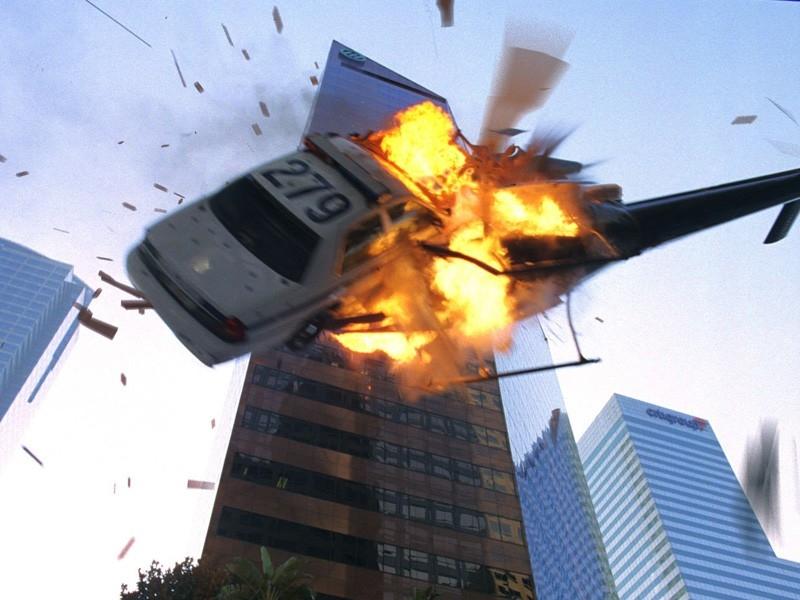 Una sequenza esplosiva del film Live Free or Die Hard