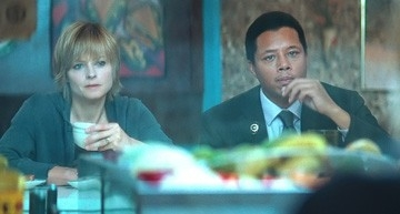 Terrence Howard e Jodie Foster in una sequenza de Il buio nell'anima
