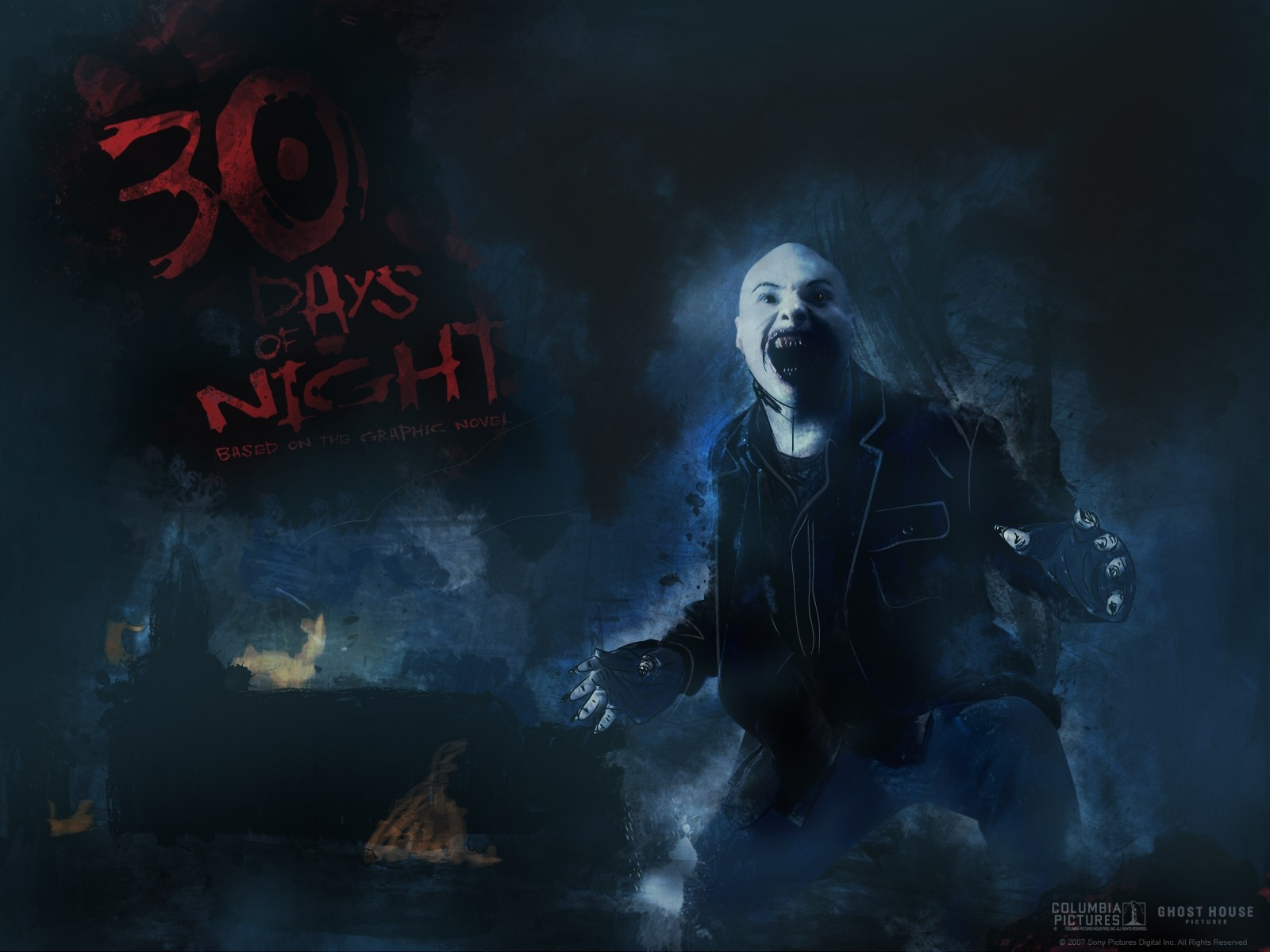 Wallpaper di 30 giorni di buio con una delle spaventose creature del film