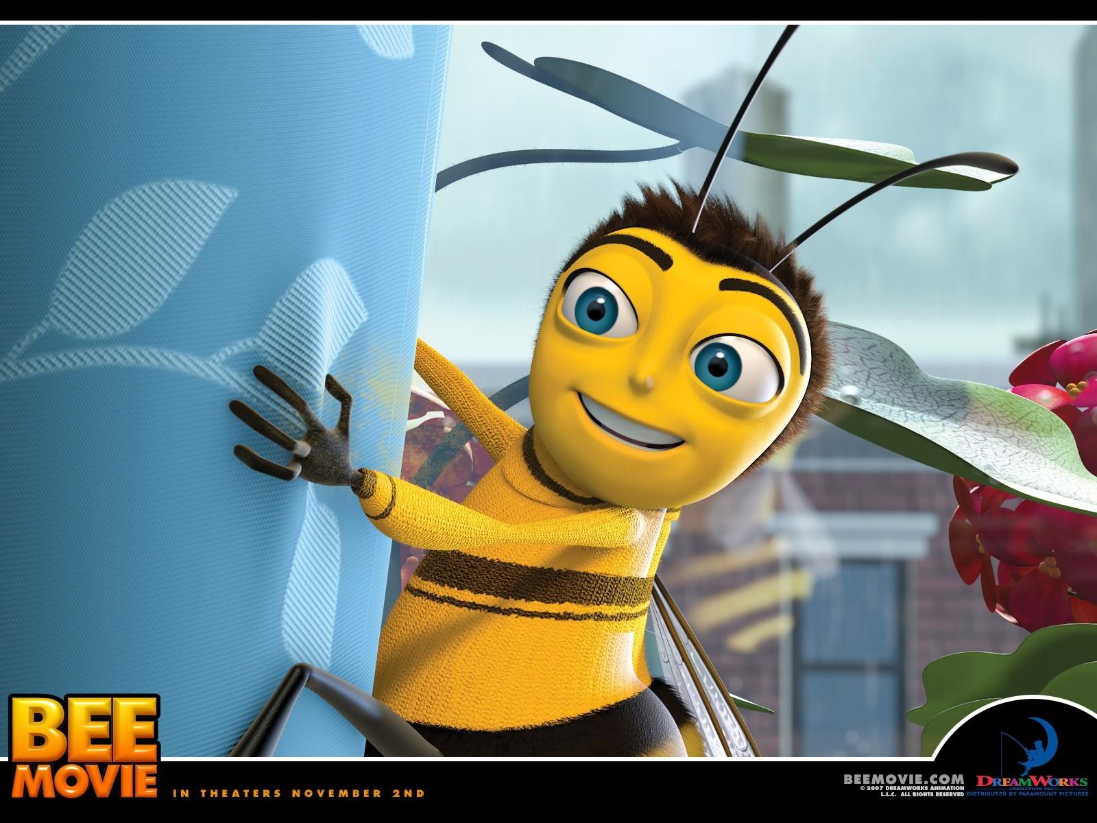 Wallpaper del film Bee Movie con il protagonista del film