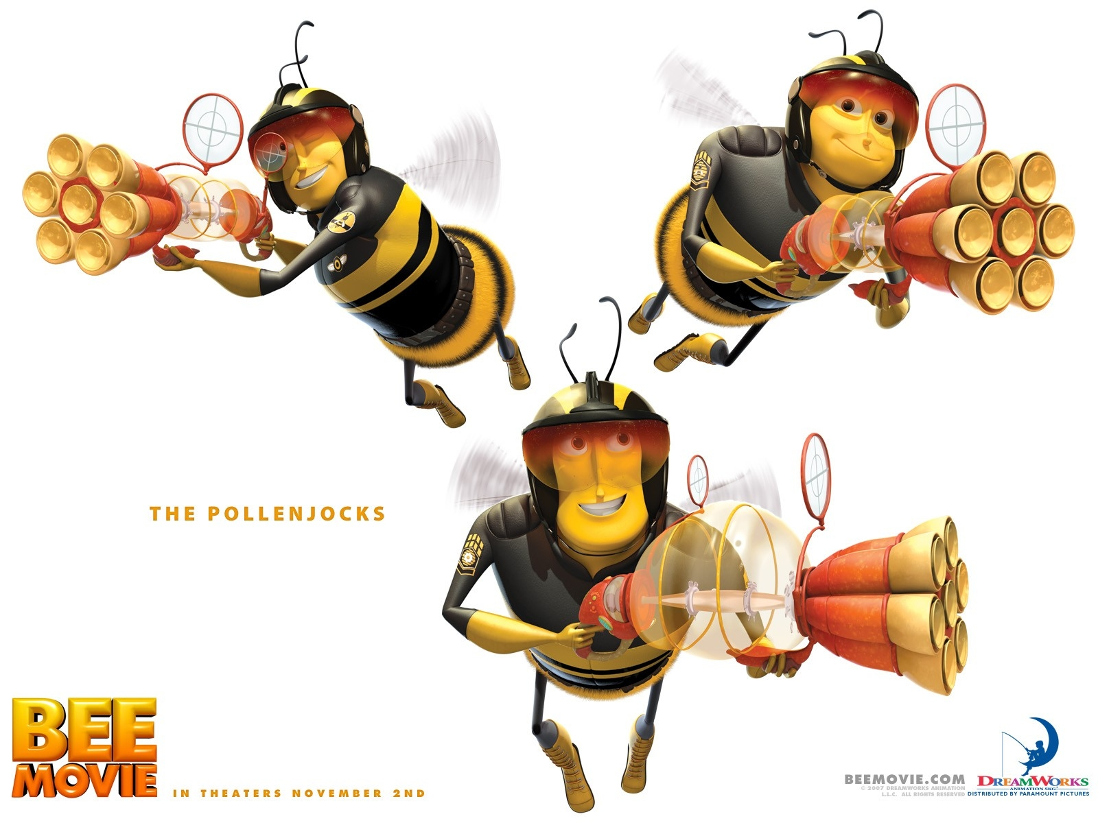 Wallpaper del film Bee Movie, del 2007