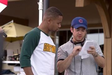 Cuba Gooding Jr e Fred Savage sul set del film Il campeggio dei papà