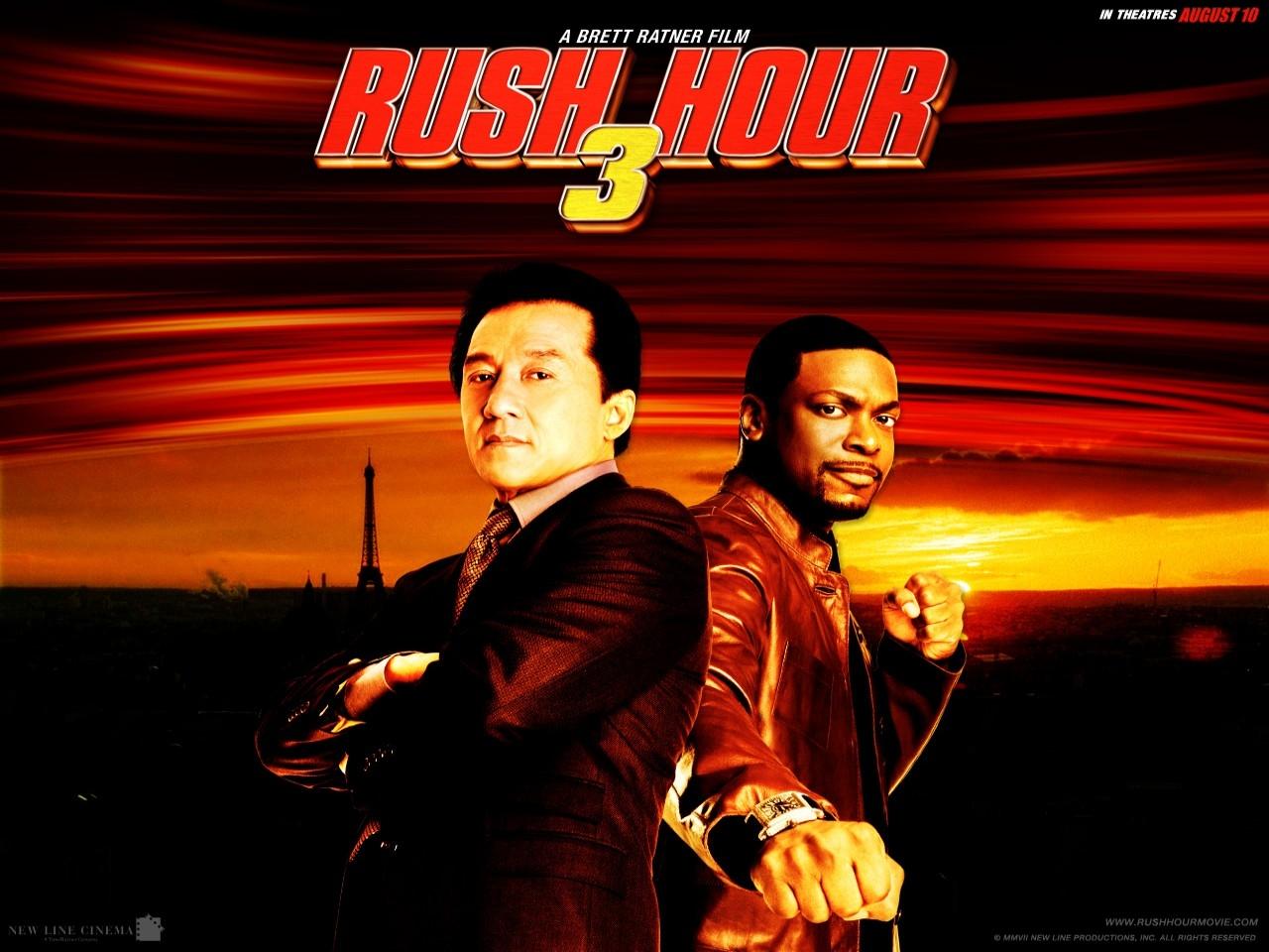 Un wallpaper di Jackie Chan e Chris Tucher nel film Rush Hour - Missione Parigi