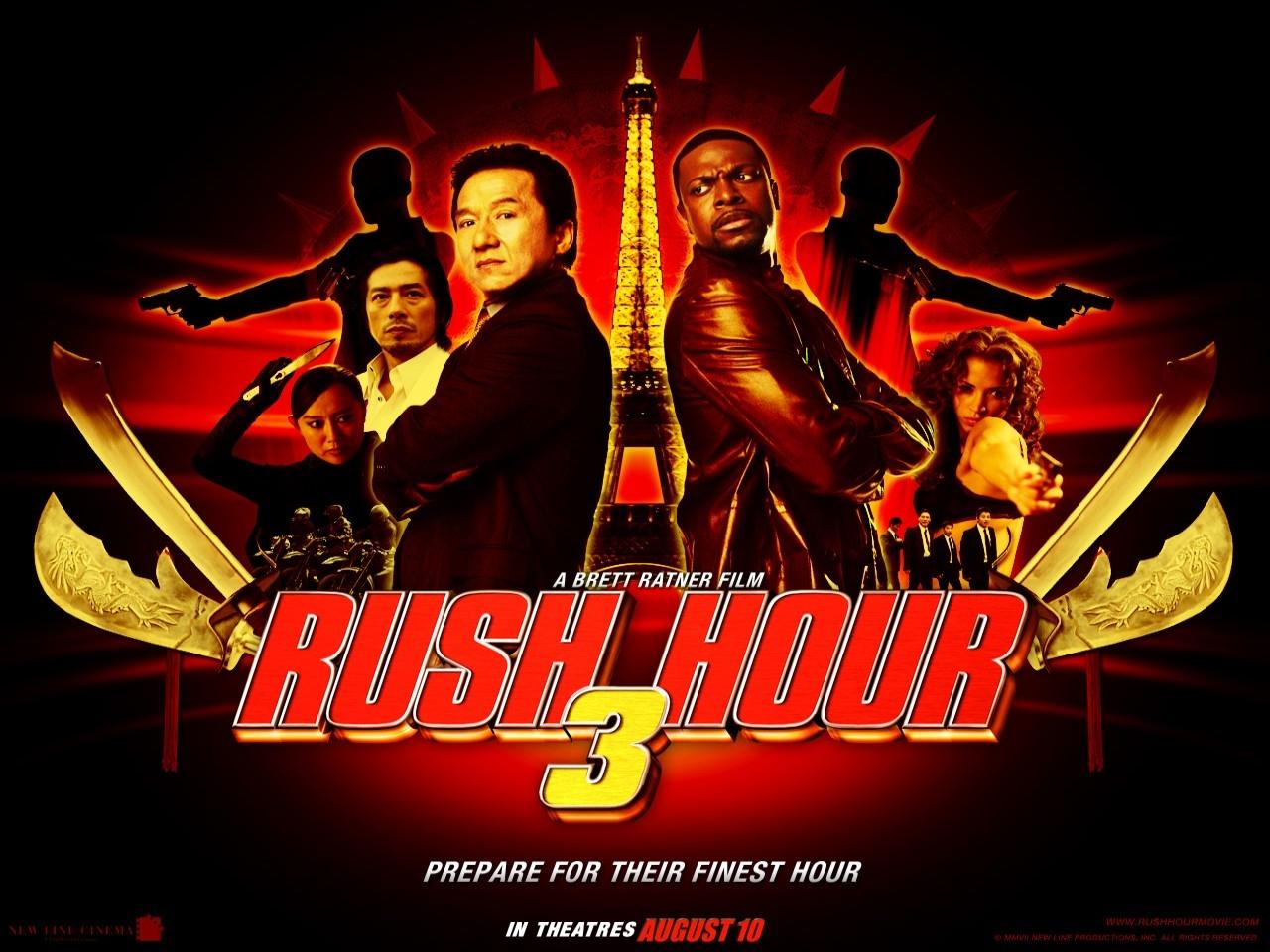 Wallpaper del film Rush Hour 3 con Chris Tucker e Jackie Chan