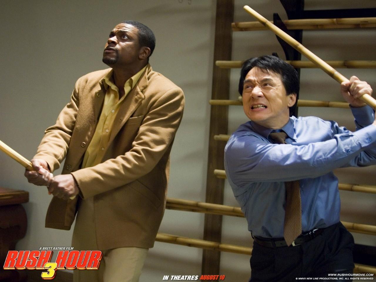 wallpaper di Jackie Chan e Chris Tucher nel film Rush Hour - Missione Parigi