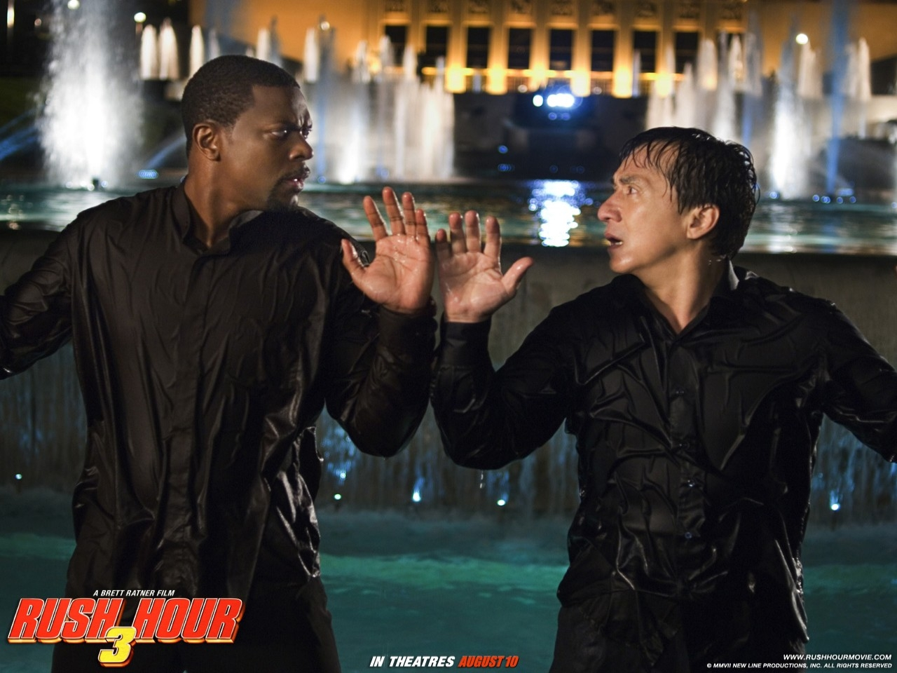 Un wallpaper di Jackie Chan e Chris Tucher nel film Rush Hour 3