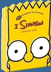 La copertina DVD di I Simpsons - Stagione 10
