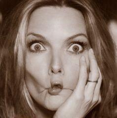 Una buffa espressione di Michelle Pfeiffer