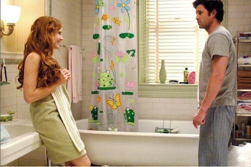 Amy Adams con Patrick Dempsey in una scena di Come d'incanto
