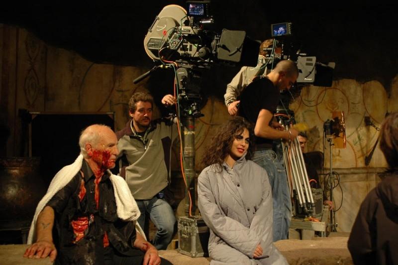 Moran Atias sul set del film La terza Madre