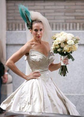 Sarah Jessica Parker in abito da sposa sul set del film di Sex and the City
