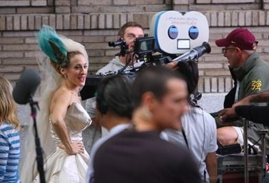 Sarah Jessica Parker sul set del film di Sex and the City