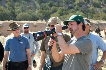 Il regista James Mangold sul set di Quel treno per Yuma