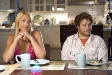 Katherine Heigl e Seth Rogen in una scena del film Molto incinta