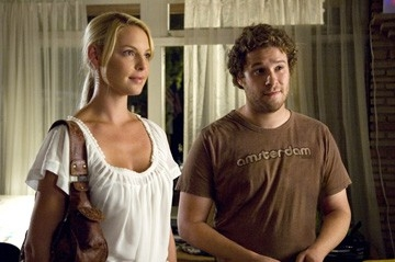Katherine Heigl e Seth Rogen in una sequenza di Molto incinta