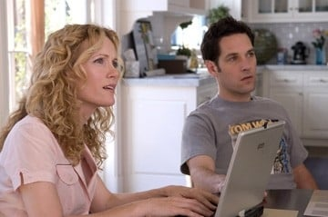 Paul Rudd e Leslie Mann in una sequenza di Molto incinta