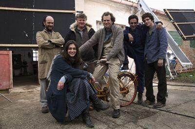 Valentina Lodovini e Ahmed Hefiane con Giovanni Capovilla sul set de La giusta distanza