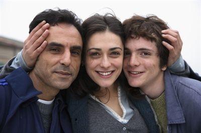 Valentina Lodovini, Ahmed Hefiane, Giovanni Capovilla sul set de La giusta distanza di Mazzacurati