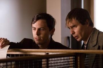 Casey Affleck e Sam Rockwell in una sequenza de L'assassinio di Jesse James