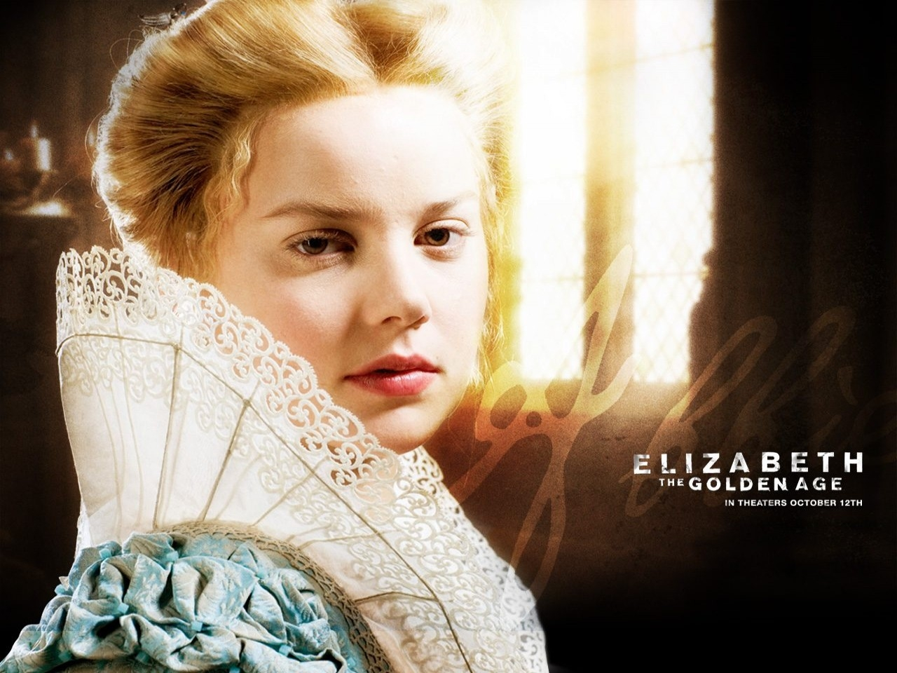 Wallpaper del film Elizabeth: The Golden Age con Abbie Cornish