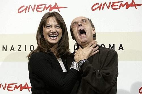 Festa del Cinema di Roma 2007: Dario e Asia Argento scherzano durante la presentazione de La terza madre