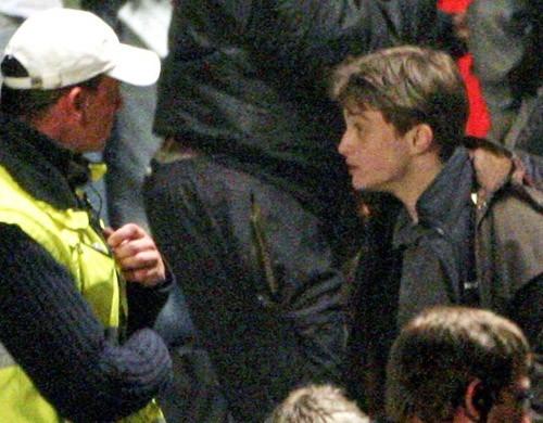 Daniel Radcliffe sul set di Harry Potter e il principe mezzosangue, nel 2008