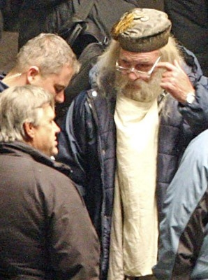 Michael Gambon sul set di Harry Potter e il principe mezzosangue