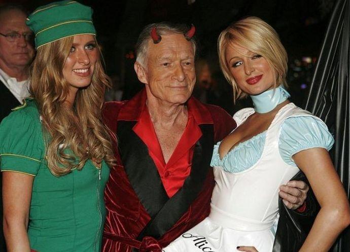 Halloween 2007: Paris Hilton e Hugh Hefner