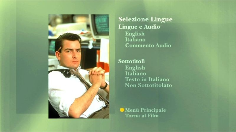 La schermata delle tracce audio di Wall Street - ed. 20° anniversario