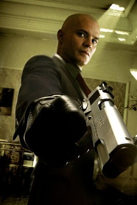 Timothy Olyphant sul set del film Hitman