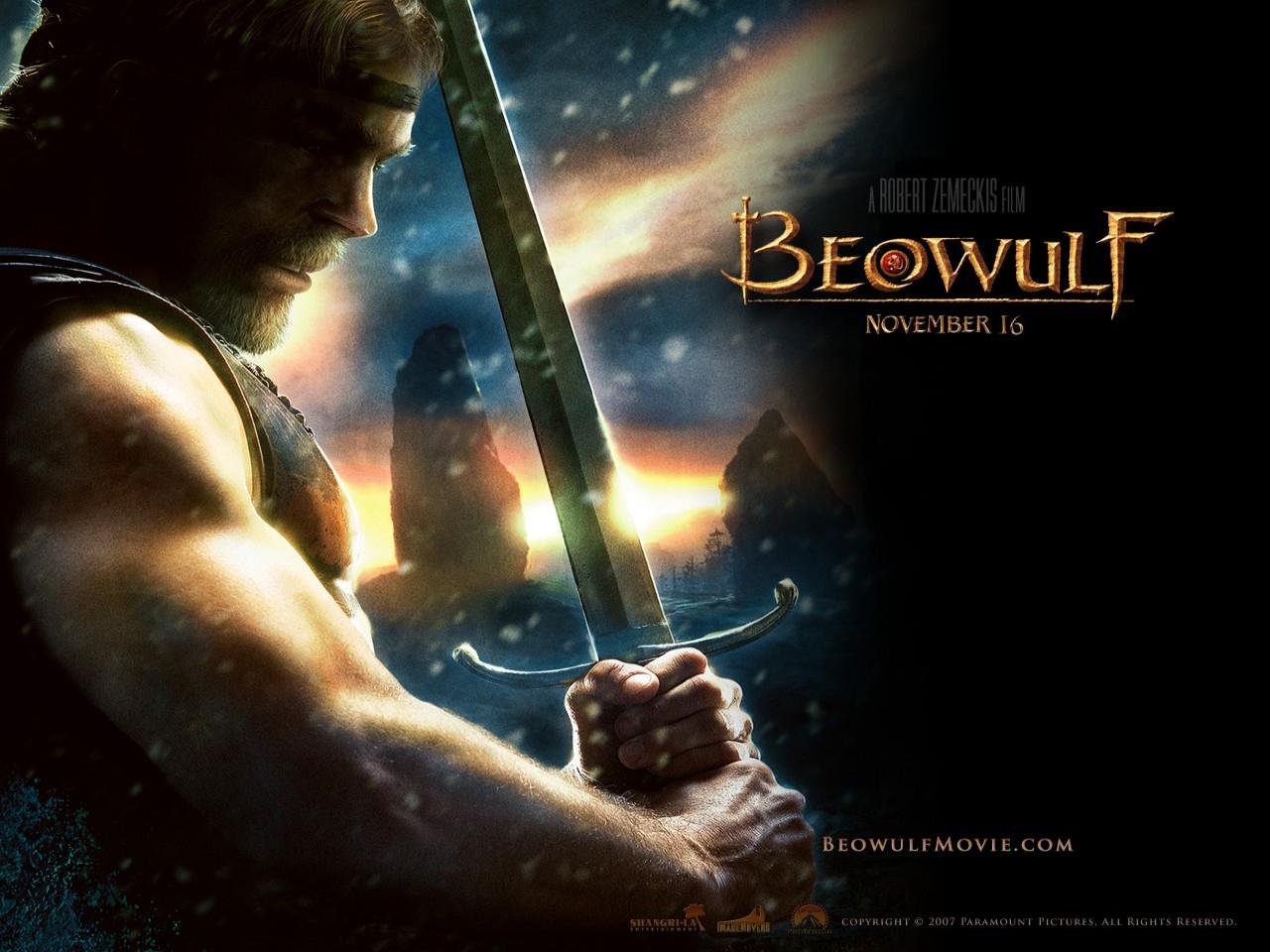 Un wallpaper del film La leggenda di Beowulf