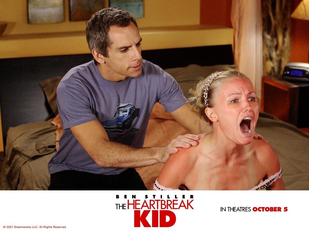 Wallpaper del film Lo spaccacuori con Stiller e la Akermann
