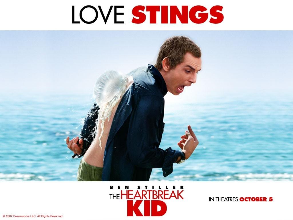 Wallpaper del film Lo spaccacuori con Ben Stiller e una medusa