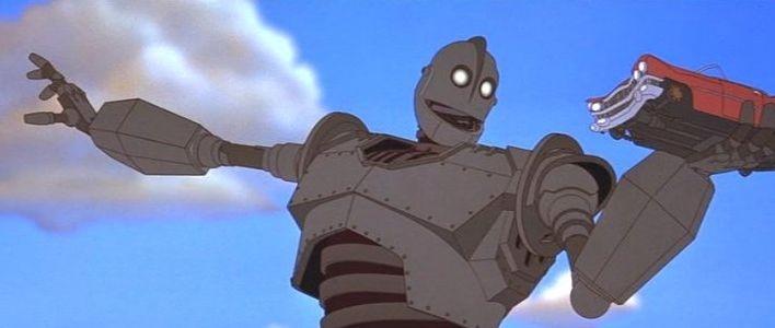 Una sequenza del film d'animazione Il gigante di ferro