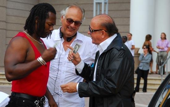 Massimo Boldi sul set di Matrimonio alle Bahamas